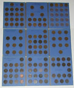 Nearly Complete Great Britain 1860-1967 1/2 Half Penny 118 Coin Set Collection