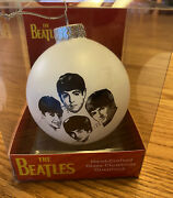 New The Beatles Handcrafted Glass Christmas Ornament Discontinued Rare