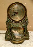 Vintage 1950's Mastercrafters 344 Lighted Motion Waterfall Electric Mantle Clock