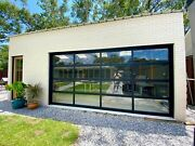 Full View [16' X 7'] Black Anodized Aluminum And 1/4 Clear Glass Garage Door