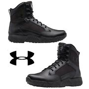 Under Armour Stellar Tactical Menand039s Boots Water-resistant Leather Sport Winter