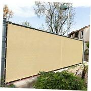 Fence Privacy Screen Cover Windscreen With Heavy Duty Brass 4and039 X 50and039 Beige