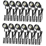 Low Voltage Landscape Lights With Connectors, 12w Waterproof Outdoor 12 Pack
