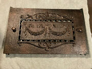 Ornate Embossed Antique Cast Iron Fireplace Summer Cover Plate Free S/h