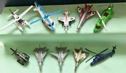 Lot Of 10 Miniature Diecast 6 Airplanes And 4 Helicopters