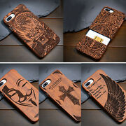Real Natural Wooden Bamboo Phone Fitted Case Cover For Iphone X Xs 8 7 Plus 6s