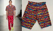 Kenny Scharf Print Shorts By Jeremy Scott Ss14 Super Rare Keith Haring Dior