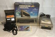 Vtg Commodore 64 Computer Orig Box 1541 Floppy Disk Drive 40+ Game Cord Manuals