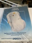 Precious Moments -baby Seat Cover 18 X 28 New 1984 Stitchery Craft Kit Name