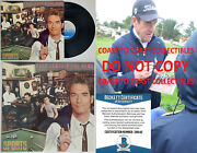 Huey Lewis And The News Autographed Sports Album Vinyl Record Coa Proof Beckett
