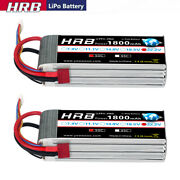 2x 22.2v 1800mah 6s Lipo Battery 50c Deans For Rc Helicopter Airplane Car Truck