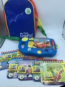 Leap Frog My First Leap Pad Learning System Lot 6 Books Cartridges Carry Case