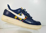 Nike Ar5394-400 Air Force1 Andlsquo07 Lv8 Men Nautical Blue Yellow Red Shoes Size 11