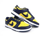 Nike Dunk Low Michigan Gold Navy White Dd1391-700 Mens And Gs