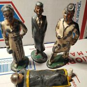 Vintage Barclay Medical Figures With Soldier 4 Lot