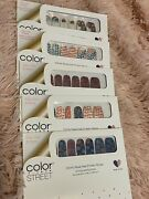 Color Street Nail Strips Retired Rare Unicorn Fired Up Party Bandana Hand Flag