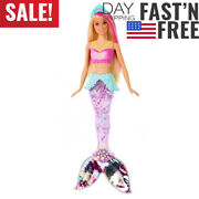 Barbie Dreamtopia Sparkle Lights Mermaid With Blonde And Pink Hair...