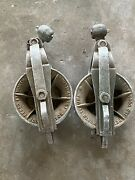 Lot Of 2 Sherman Reilly Pulley Aluminum Snatch Block Pulley Xs-100-b
