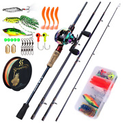 Casting Rod And Baitcaster Reel Fishing Line And Accessories Combo Carbon Pesca