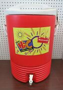 1997 Mcdonald's Igloo Commercial Red 10 Gal. Drinking Water Cooler Spout Handles
