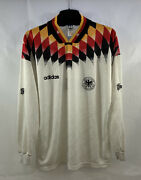 Germany Match Issue L/s Home Football Shirt 1994/96 Adults Large Adidas G445