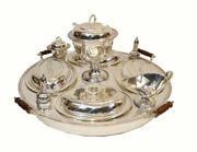 Silver Plate Lazy Susan Bain Marie Food Server Revolving Hot Plate