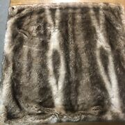 Pottery Barn 2 Rare Pillow Covers Ombre Faux Fur 26 In/euro Shams Nwt Brown