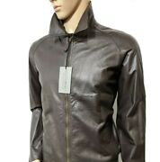 Bnwt Gieves And Hawkes Mainline Leather Cafe Racer Biker Jacket Sz L 42r Rrp Andpound1795