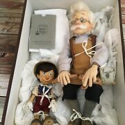 R John Wright Series 1 Geppetto And Pinnochio Marionette Dolls 393