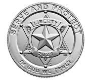 2021 U.s. 50andcent - National Law Enforcement Memorial Uncirculated - Us Mint
