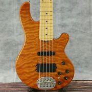 Lakland Sl55-94 Deluxe Amber Translucent 2010 Used 5-string W/soft Case