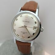 Vintage Helbros Menand039s Automatic Watch Date Puw 1461 17 Jewels Germany 1970s