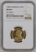 1900 Australia S Sydney One Sovereign Gold Coin Ngc Ms63 Pl Prooflike Fields