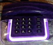 Vintage - Alana Mp200 Designer Purple Neon Telephone Land Line 80and039s 90and039s Works