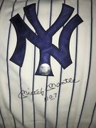 Mickey Mantle Jersey 7 New York Yankees Autographed