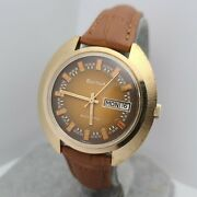 Vintage Bulova 11bsacb 17jewels Menand039s Automatic Watch Day/date Swiss 1974
