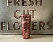 New Starbucks Rose Gold Studded Iridescent Venti Tumbler Cold Cup Rare And Htf