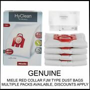 Genuine Miele Cat And Dog Compact C1 C2 C3 Red Collar Fjm Type Vacuum Cleaner Bags