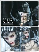 Ring Doll Limited To 100 The White King 70cm Doll Japan