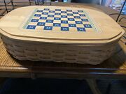 Longaberger All In One Game Basket Combo Protectors, Game Pieces And Game Lid.