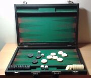 Used - Game Table Backgammon With Case - Item N Gauge Train Passengers