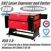 Us Stock 110v 80w Co2 Laser Cutter Machine With 10 Electric Up And Down Platform