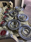 Used 1955 1956 1957 Ford Vintage Car Wire Rim Hubcaps