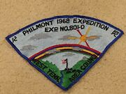 1968 West Tennessee Council Philmont Backpatch Neckerchief Bsa Boy Scouts