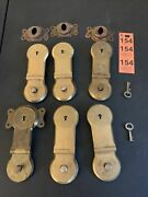 6 Vintage Steamer Luggage Trunk Latch Locks And Accessories No Matching Keys