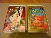 Disney Family Movie Vhs Lot2 Mulan And The Little Mermaid