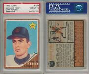 Gaylord Perry Hof 1962 Topps Rookie Rc Baseball Card 199 Psa 8 Nm-mt X747
