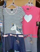Wholesale Lot Of Pink And Violet Girls Dresses With Keychain Unicorn And Heart
