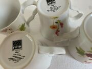 Lot Of 4222 Fifth Althea White Flowers Mugs - Perfect