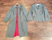 Wwii American Red Cross Arc Womenand039s Uniform Service Tunic And Dress Overcoat
